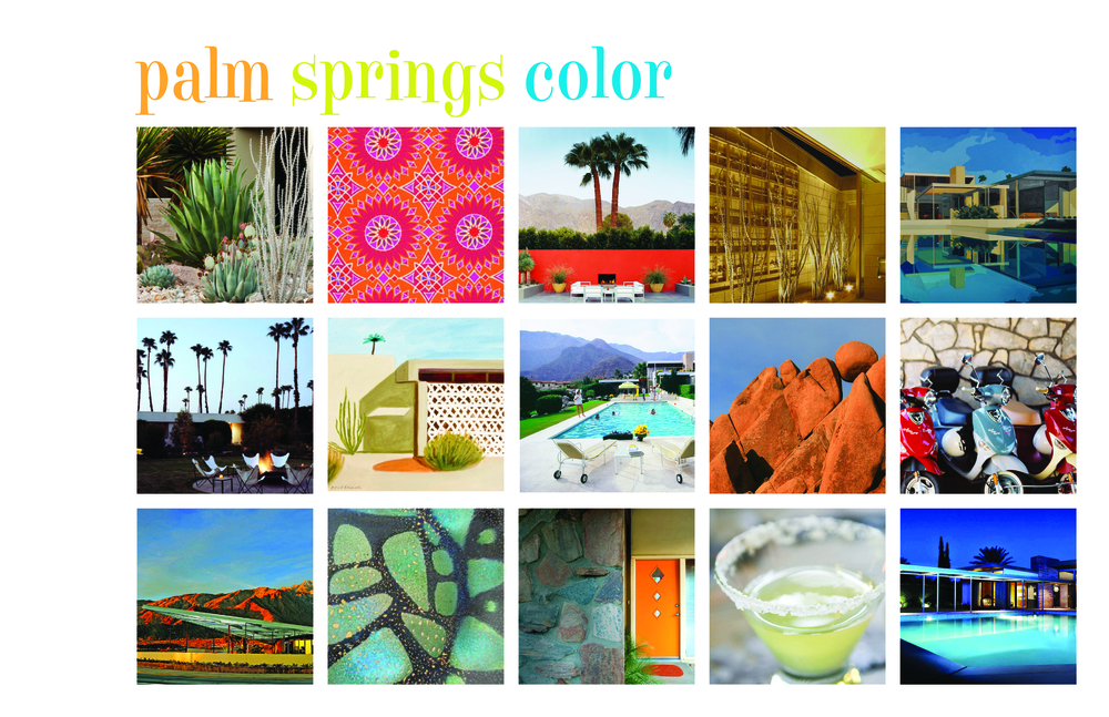 Mood Board for MCollective Palm Springs project.
