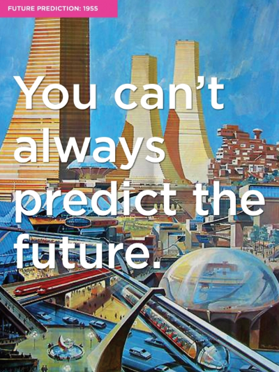 Predictions For The Future. Poster Design. Vintage Illustration.