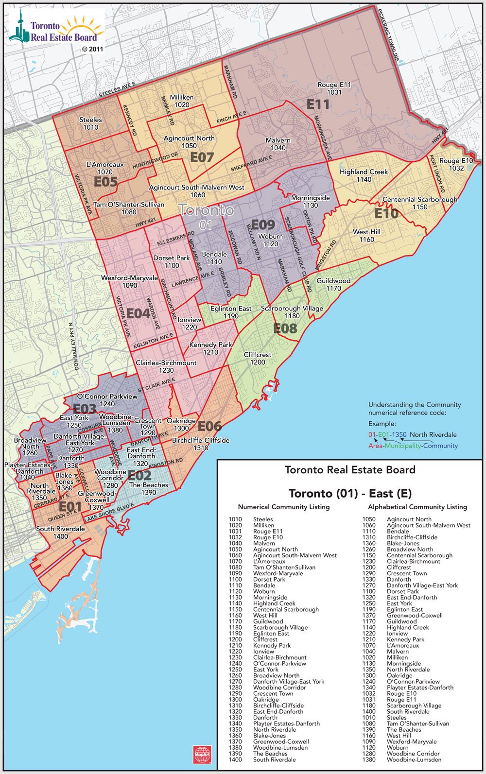 Toronto MLS District Map East