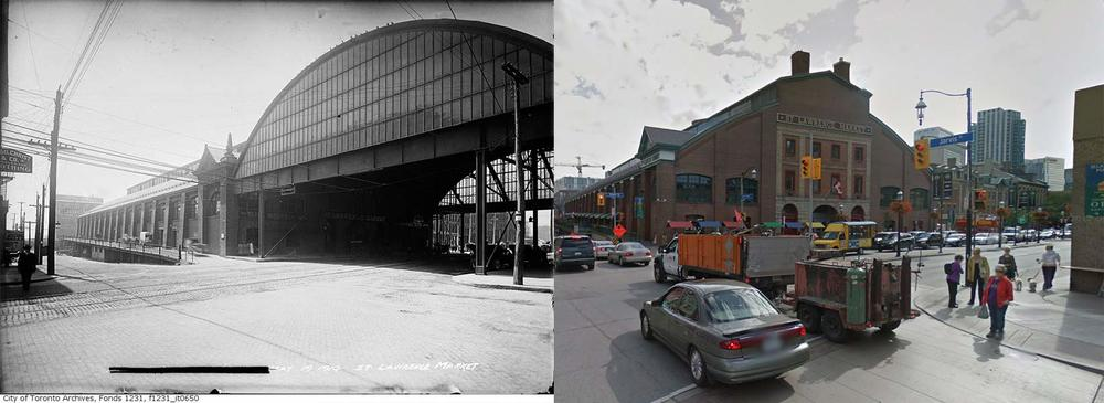 St Lawrence Market Toronto  1914 vs 2013