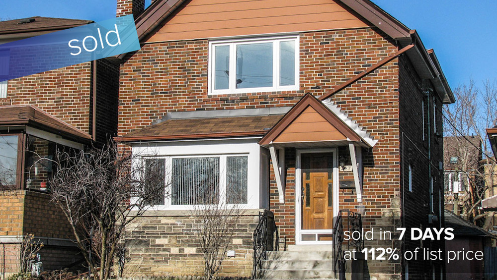 47 Northcliffe Blvd Toronto - St. Clair West and Dufferin Street   SOLD: $616,000