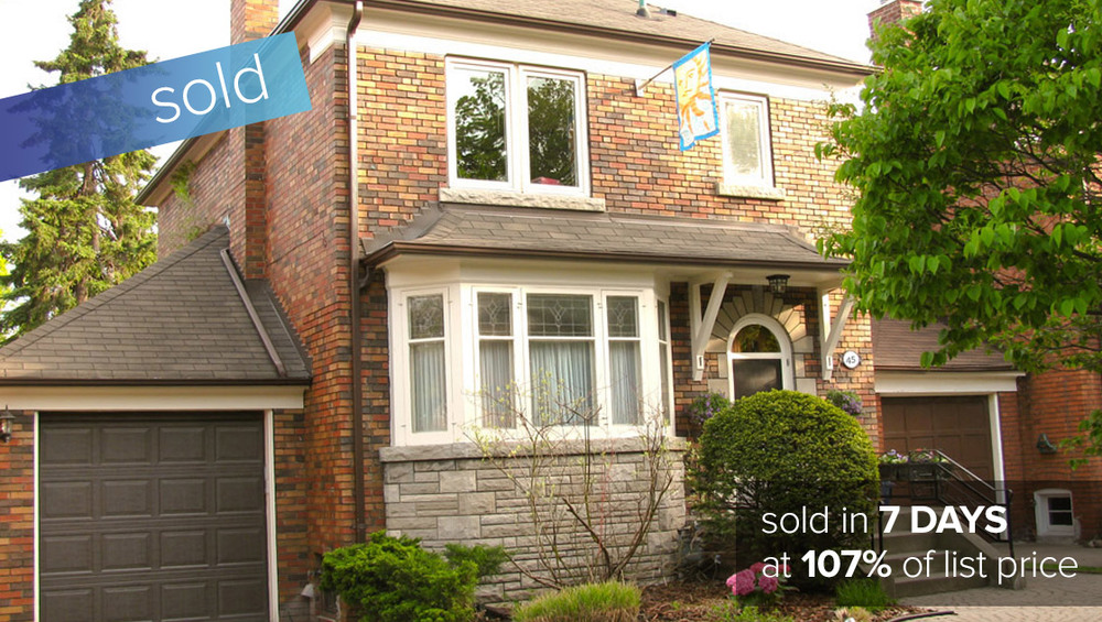 45 Oakview Ave Toronto   SOLD: $825,000