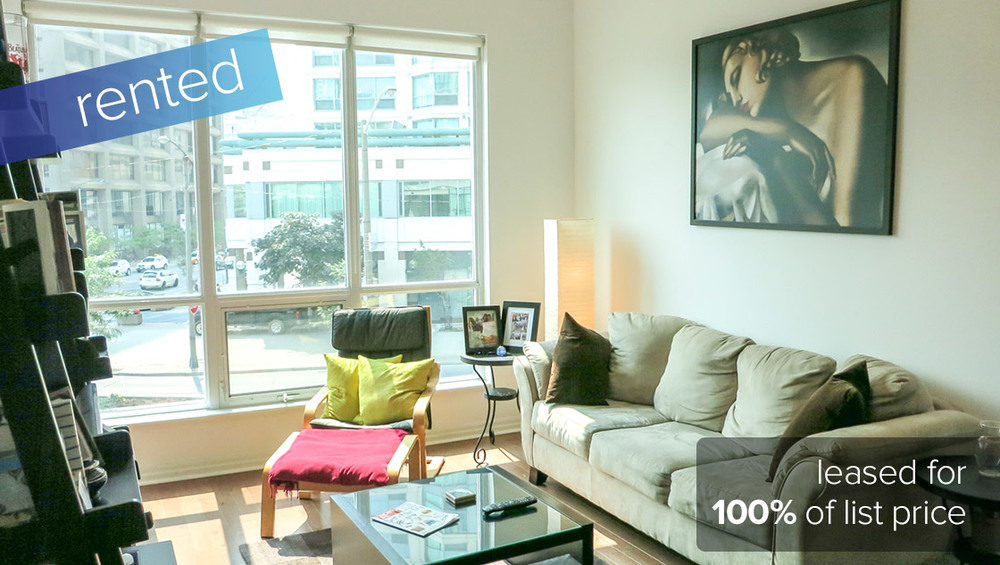 16 Yonge Street #210 - Downtown / Waterfront Community   RENTED: $1700/month (100% of listing price)