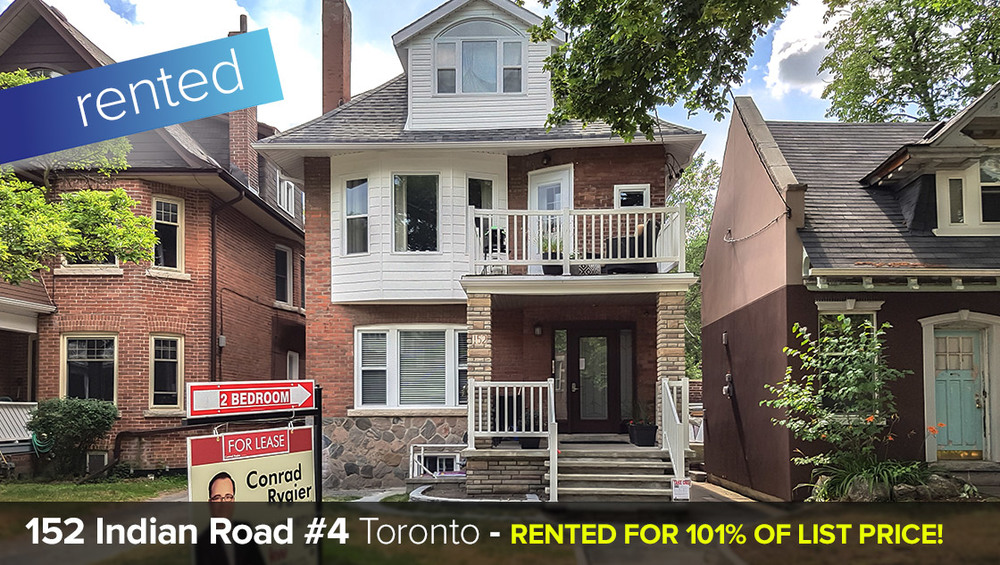 152 Indian Road #4 - Roncesvalles Village - 2 Bedroom (2nd floor) all inclusive   LEASED: 101% of List Price!