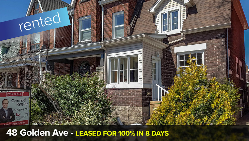 48 Golden Ave - Roncesvalles     LEASED: 100% of List Price (in only 8 days!)
