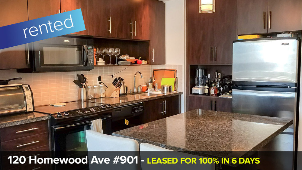 120 Homewood Ave #901 - South St. James Town - Cabbagetown - 2 Bedroom Condo   LEASED: 100% in 6 DAYS!