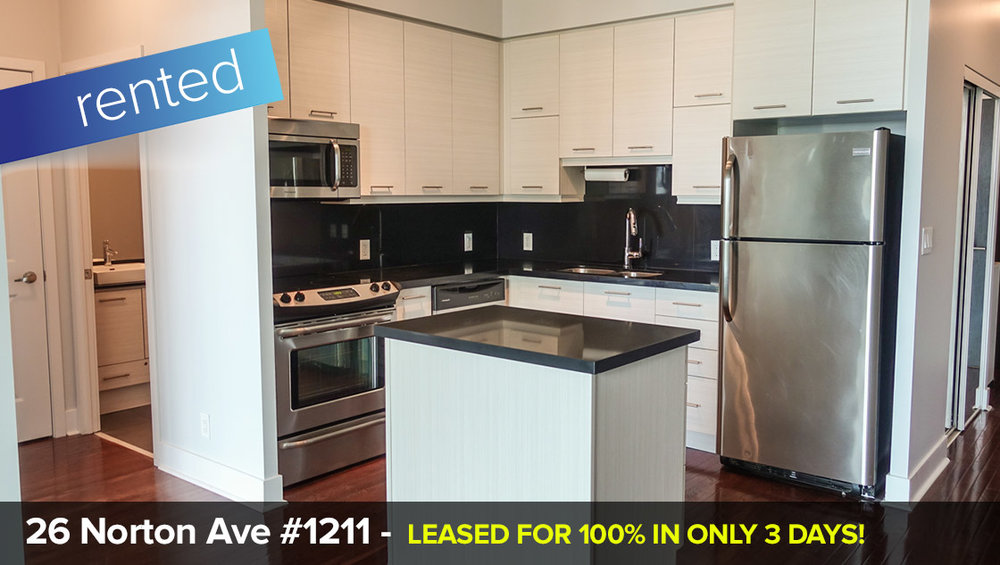 26 Norton Ave #1211 - Willowdale East (North York) - 1 Condo Suite with Parking + Locker   LEASED: 100% in only 3 Days!