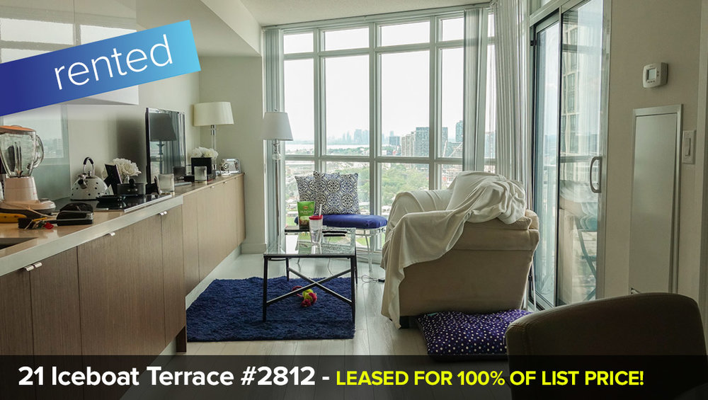 21 Iceboat Terrace #2812 - Waterfront Community C1 - 1 Bedroom   LEASED: 100% of List Price in 9 Days!