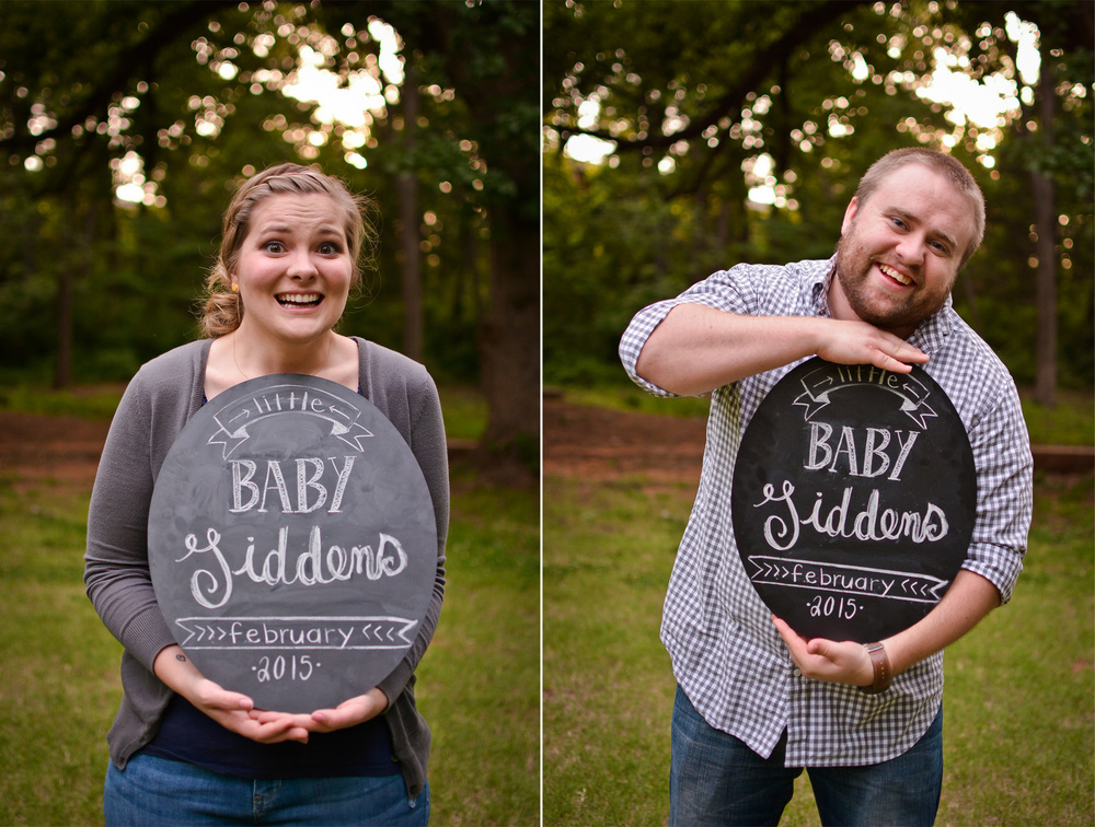 """This was when I asked them to make their """"excited to be parents"""" faces. ;)"""