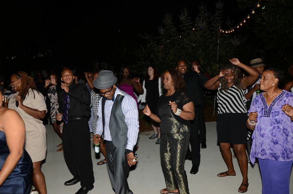 "No wedding reception can go without the oh so popular ""wobble."""