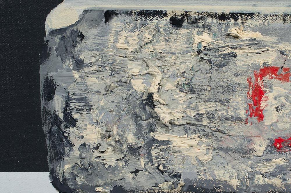 Lithograph Stone - DAN (detail)