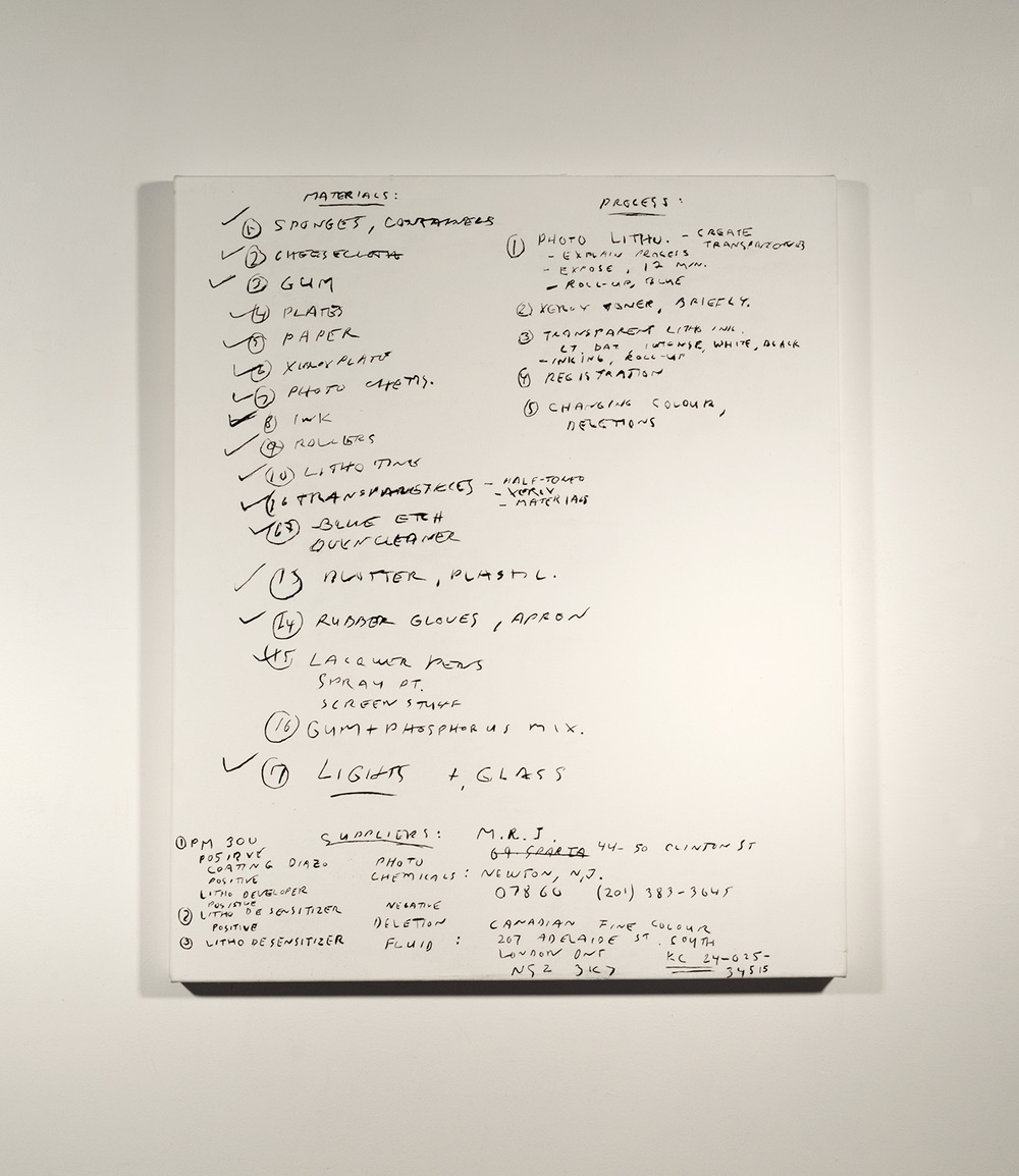 Lithography Notes #1_1989 - 90 (2015)