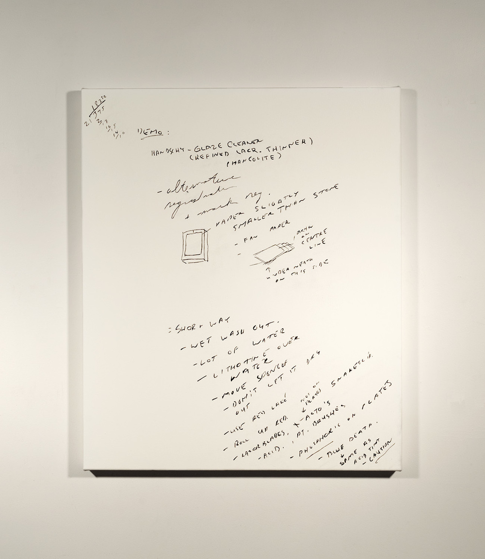 Lithography Notes #2_1989 - 90 (2015)