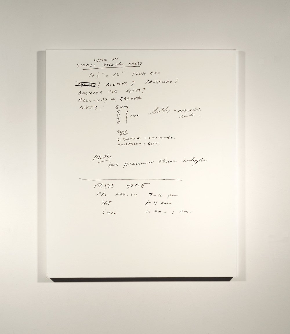 Lithography Notes #3_1989 - 90 (2015)