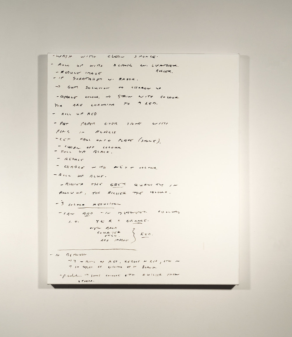 Lithography Notes #4_1989 - 90 (2015)