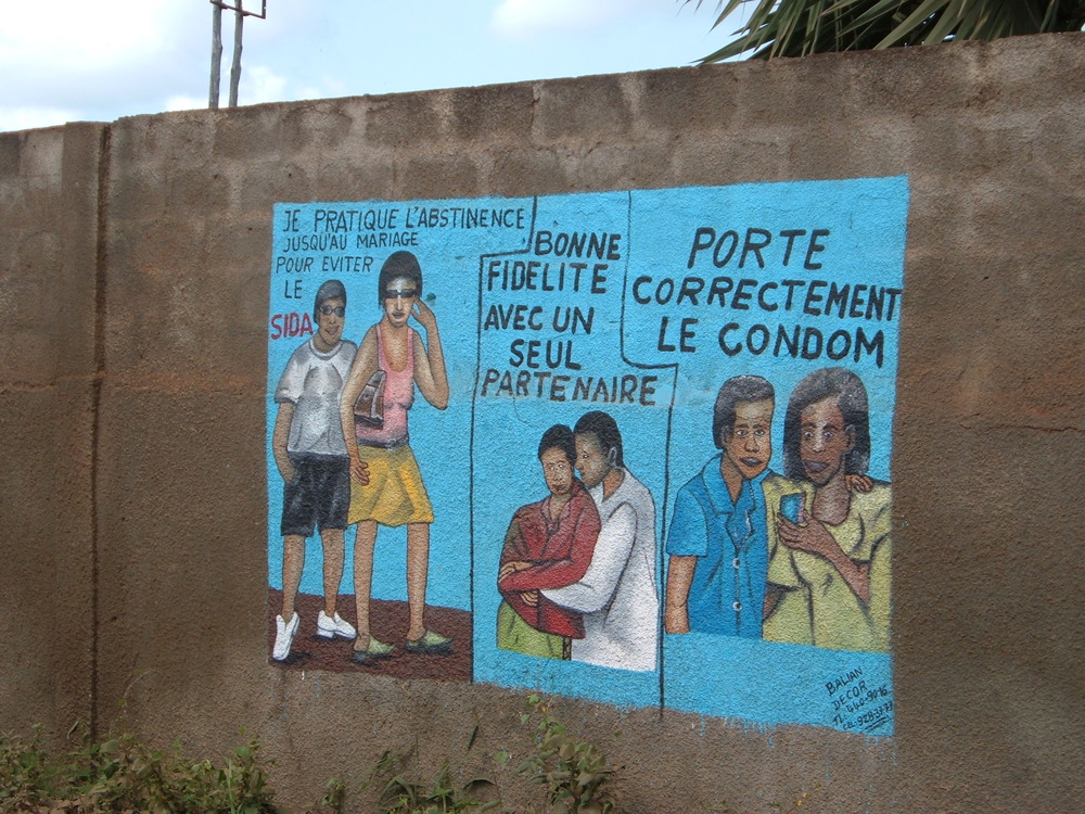 A street mural in Togo, 2005.