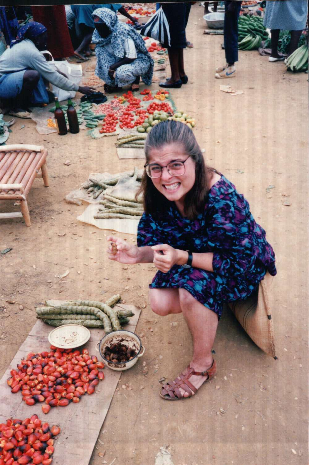 Kelly at her local market