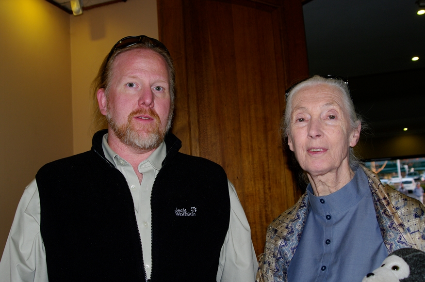 With Dr. Jane Goodall in June 2013
