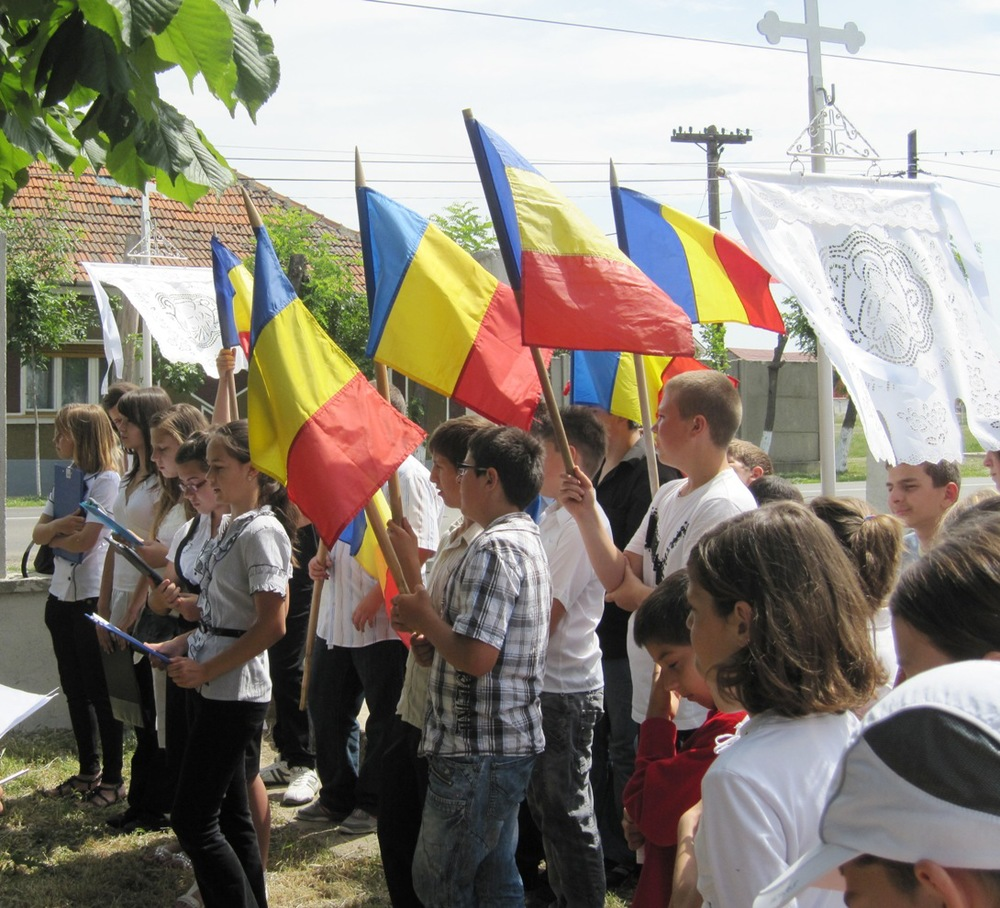 Students in Romania in early June