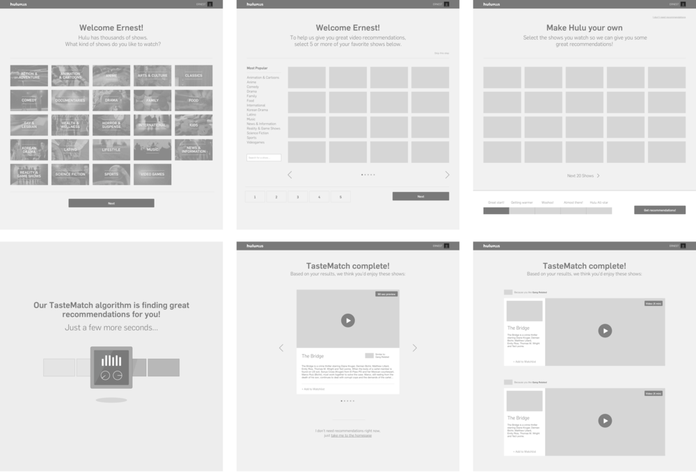 Some early concepts explored for Onboarding
