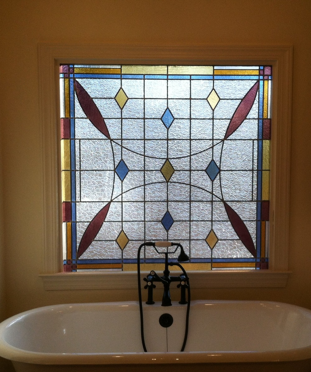 Stained Glass Door at private residence in Montgomery, Alabama.