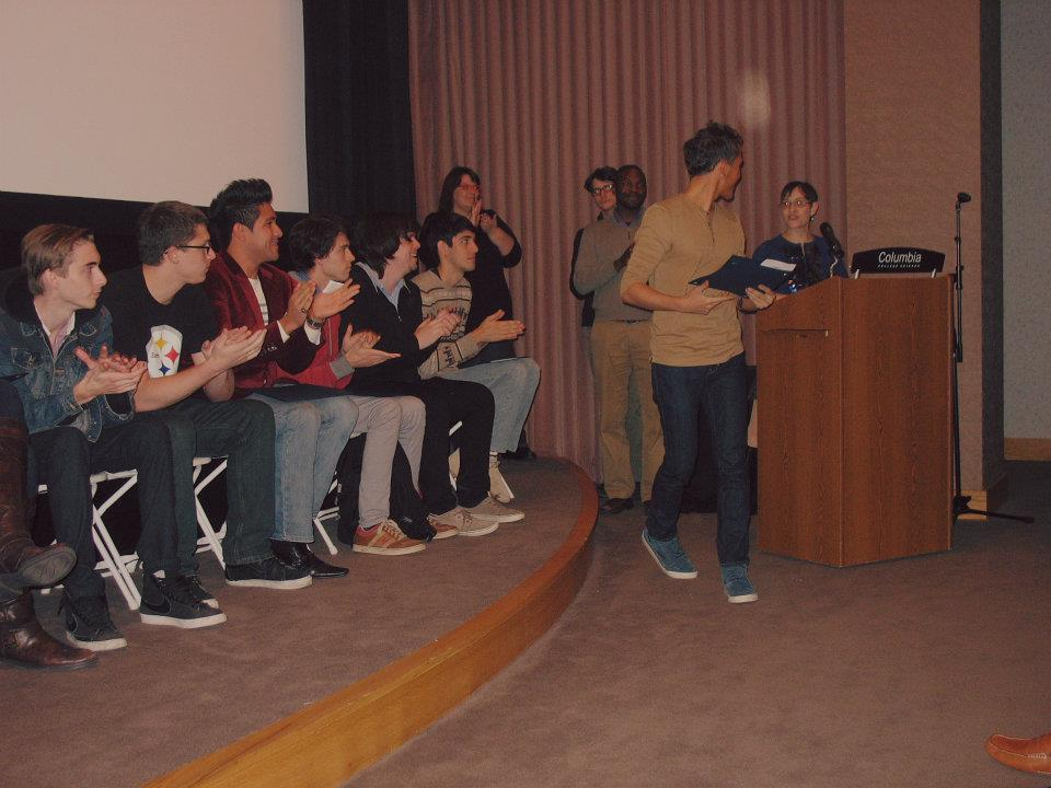 "Receiving ""Audience Award"" at 2011 Take 1 Film Festival."