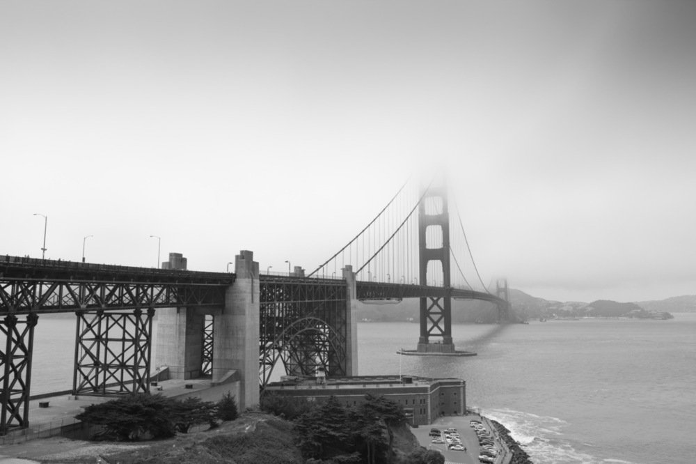 The Black and White Gate Bridge - San Francisco, CA