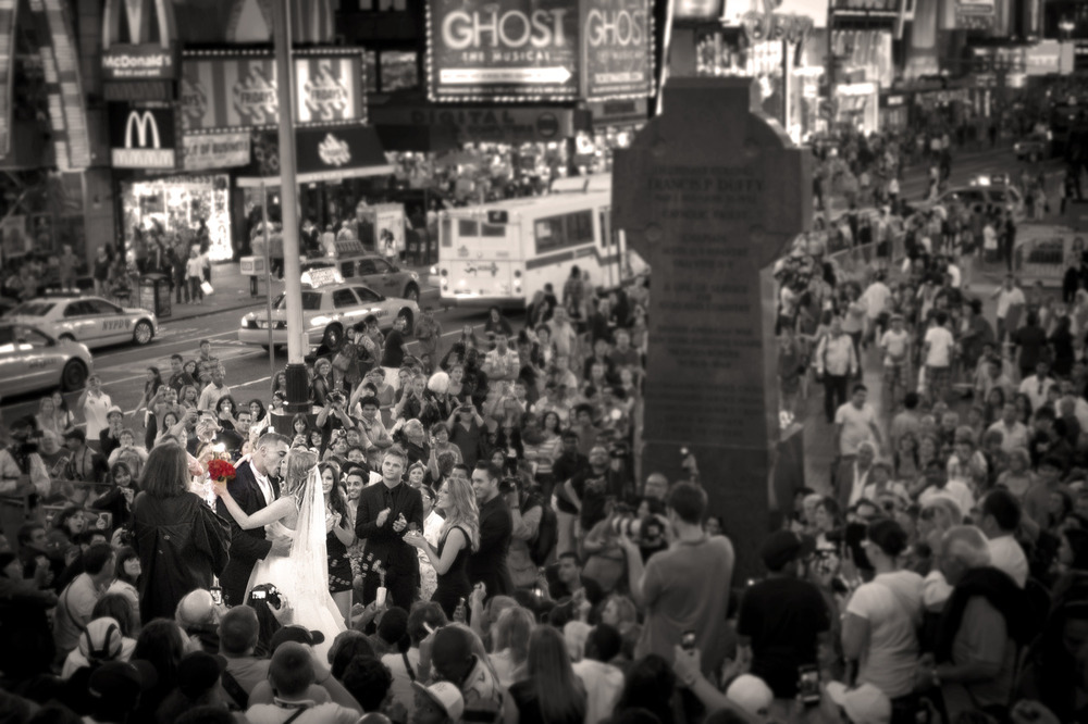 Times Square Wedding Crash - New York, NY