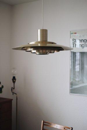 Vintage p376 brass plated pendant lamp 167
