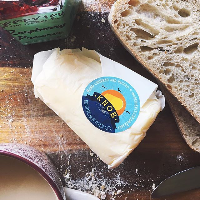 I finally got round to trying this knob butter that Brighton keeps raving about. Pretty darn buttery! #eatlocal #brighton #sussex