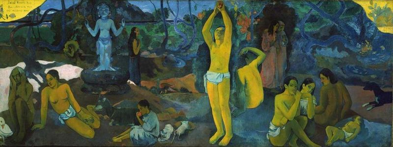 "Painting by Paul Gauguin ""  Where Do We Come From? What Are We? Where Are We Going?"" Courtesy of Wikipedia"