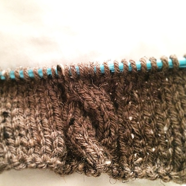 Thanks to YouTube... I'm finally learning how to knit cables! #oldladystatus