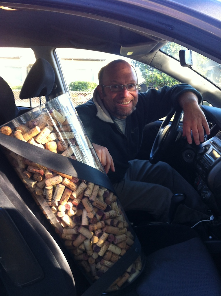 Owner/Operator Jeff Weissler moves his cork collection to the new space