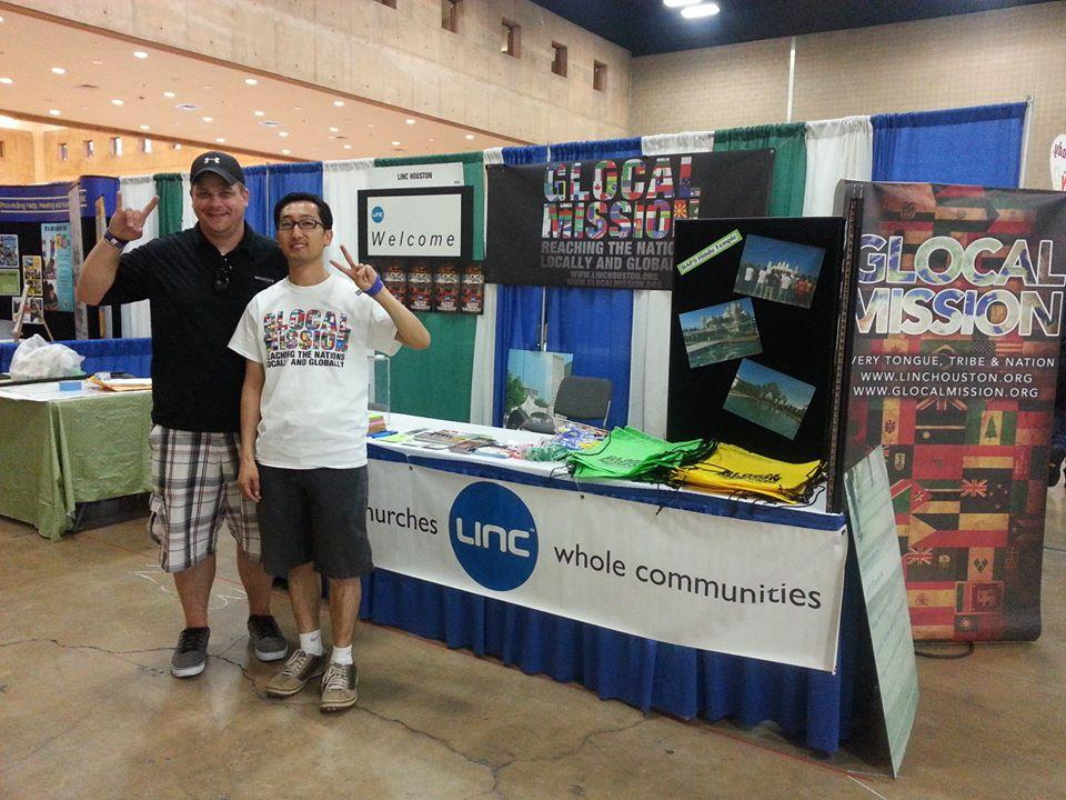 Doug and Pastor Kim working the LINC Booth at the National Youth Gathering in San Antonio, TX.