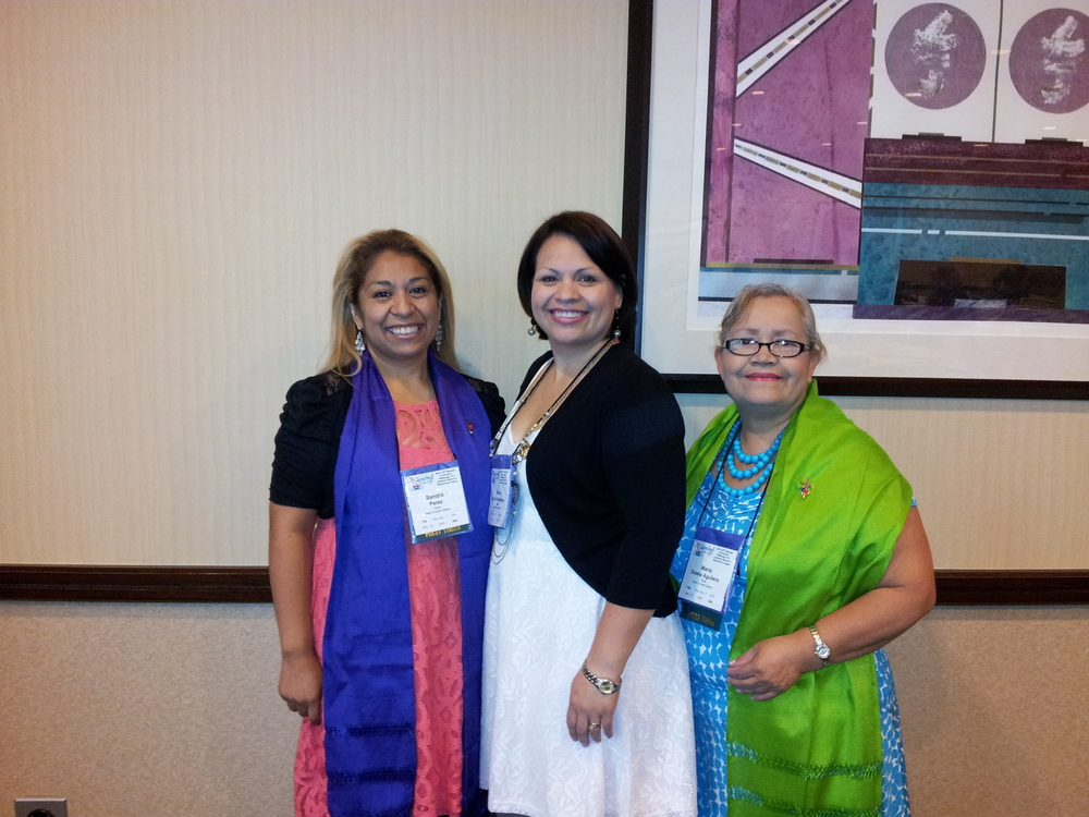 Attending the conference in Pittsburg. Left: Sandra Del Valle, Middle: Perla Rodriguez, Right: Estela Aguilera.