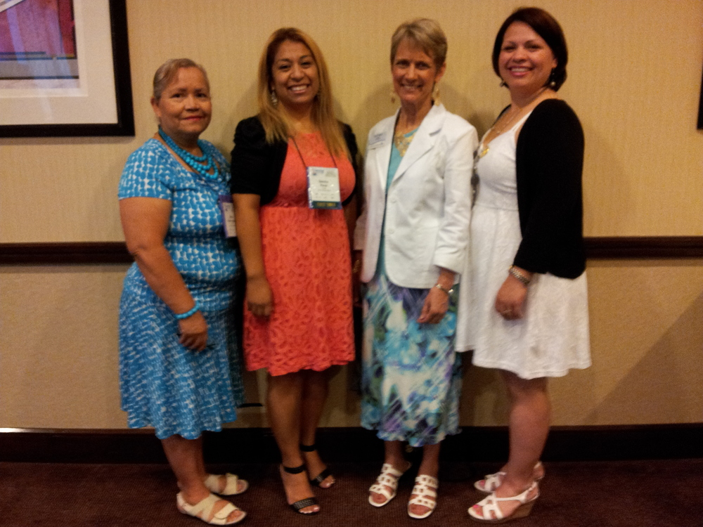 The Ladies with LWML Texas District President, Lois Teinert at Commissioning Ceremony.