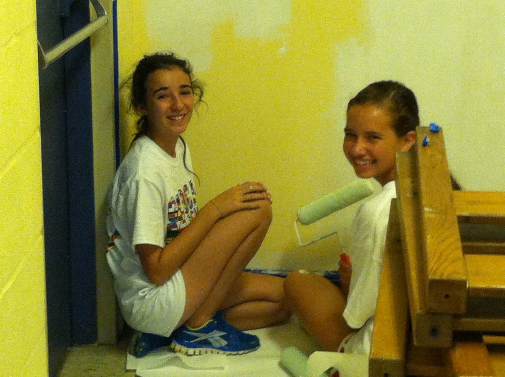 Painting the Hallways at Our Redeemer Lutheran Church.