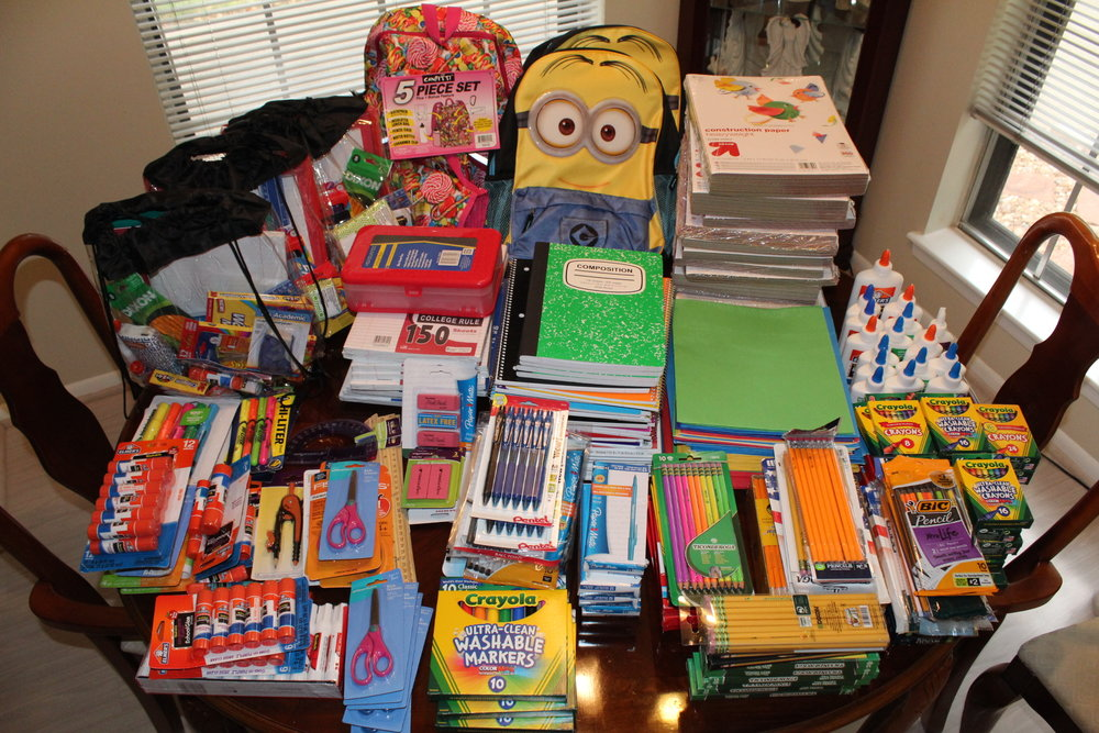 We hope to collect a garage full of school supplies this year!!! Thank you for your help!!