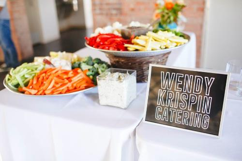 Delicious food and amazing displays all provided by Wendy Krispin Catering