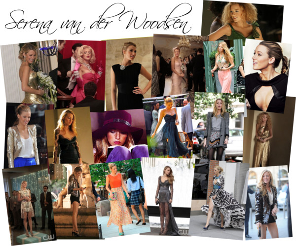 My tribute to Serena van der Woodsen for Sweet Lemon Magazine's  The Zesty Digest