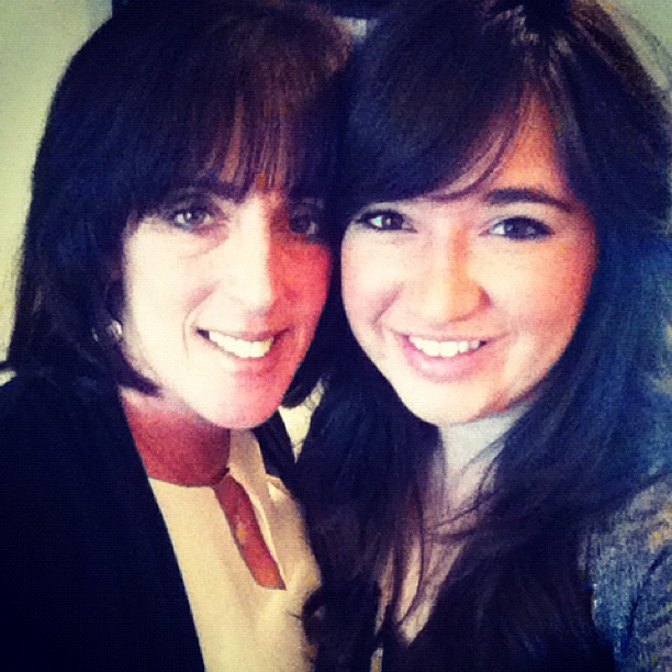 Mom & I on Turkey Day | Photo by Julie DiGiovine of The Stylish One on Instagram