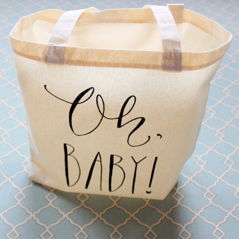 This adorable bag makes the perfect gift for a mommy-to-be. Fill it with a receiving blanket, clothes for baby, or her favorite treats.