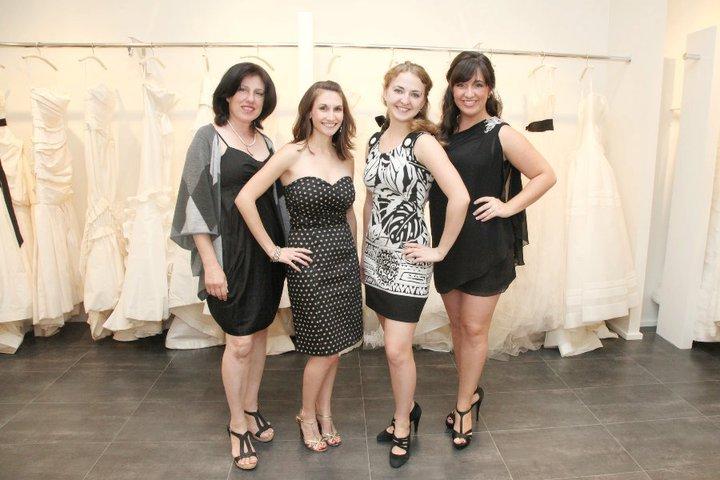 Gisele, Megan, Mila and I at Vera Wang Boston