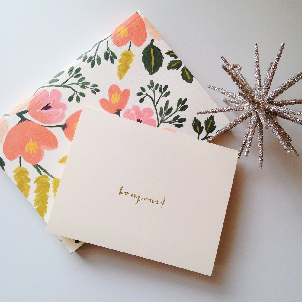How sweet is this French inspired card?Bonjour