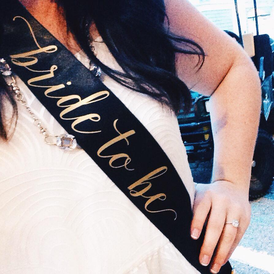 My beautiful sash from my MOH made by  Hop Studio  on Etsy!