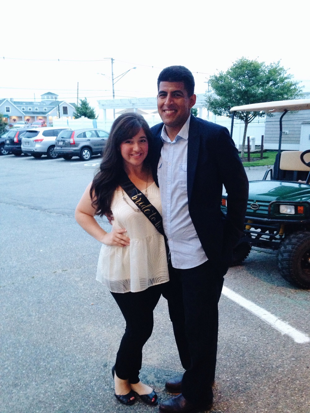 The bachelorette and her bachelor ready for a night out on the town.