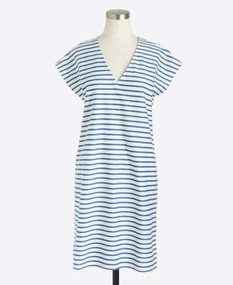 Striped V-Neck Dress