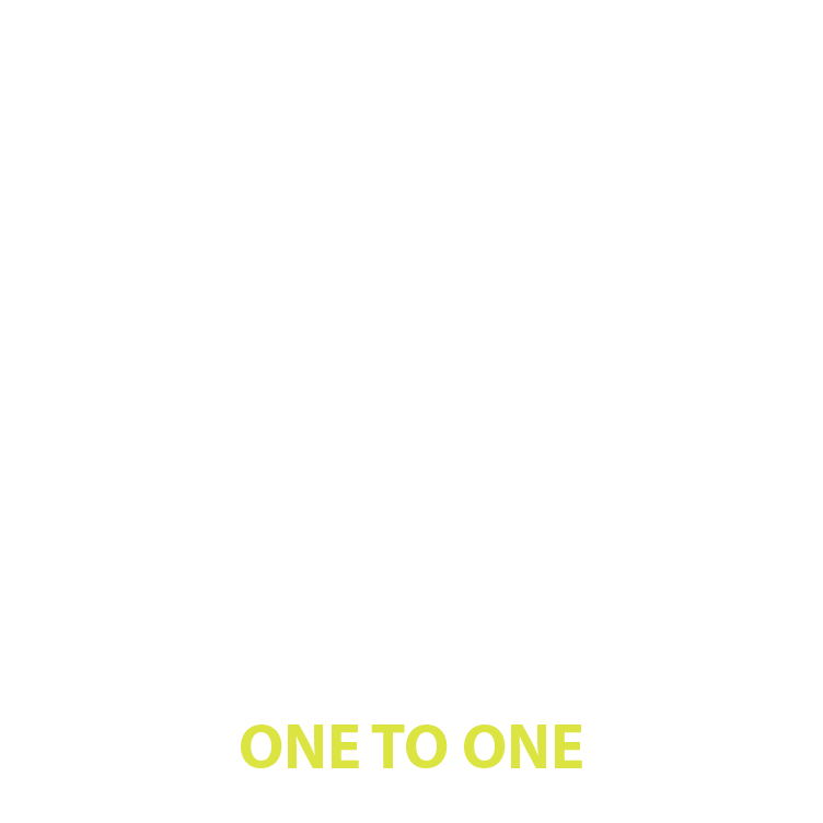 One to one golf lessons logo