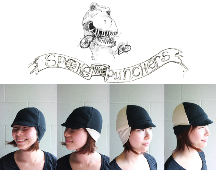 Spokepunchers WI 10 line, wool knit cycling cap.