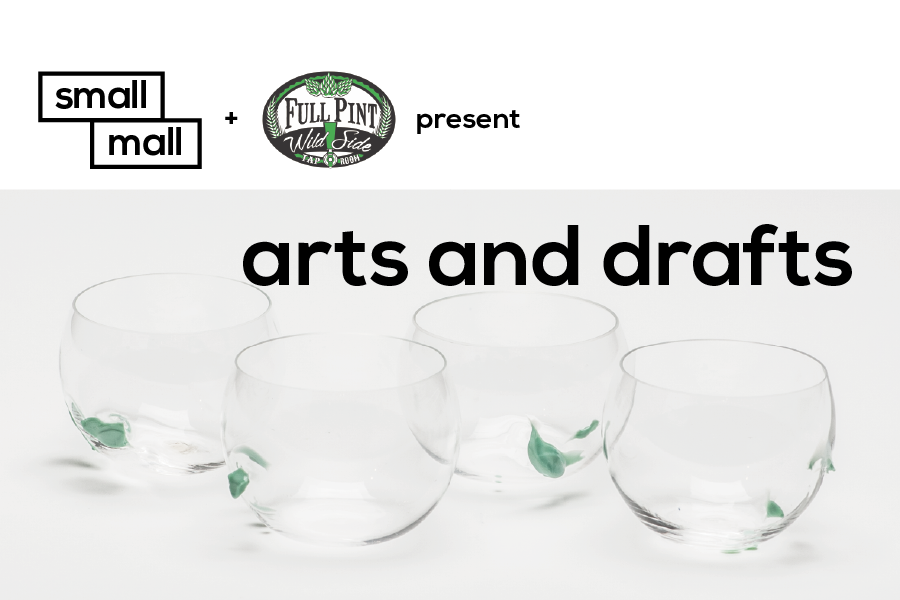 Butler Street neighbors Small Mall and Full Pint Wild Side Pub are coming together to host a one night only event highlighting Pittsburgh-based glass artist Margaret Spacapan and craft beer.